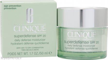 Clinique Superdefense SPF20 Daily Defense Idratante Giornaliero 50ml - Pelle Molto Secca/Mista