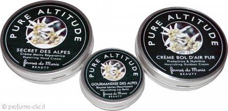 Fermes de Marie Pure Altitude Confezione Regalo 60ml Crema Mani + 15g Balsamo Labbra + 60ml Crema Protettiva Viso
