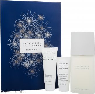 Issey Miyake L'Eau d'Issey Pour Homme Confezione Regalo 125ml EDT + 75ml Gel Doccia + 50ml Balsamo Dopobarba