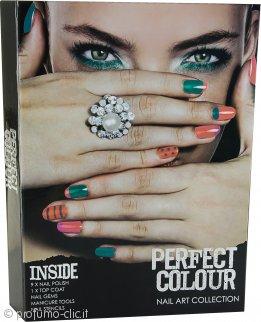 Jigsaw Perfect Colour Nail Art Collection Confezione Regalo 23 Pezzi - Manicure Set + Smalti + Gemme per Unghie + Stampini per Unghie
