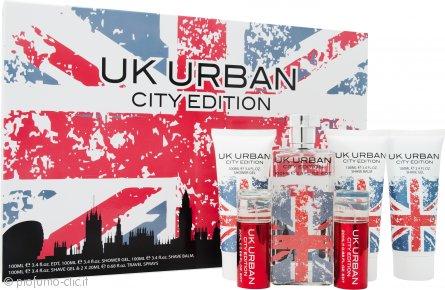 Jigsaw UK Urban City Edition Confezione Regalo 100ml EDT + 100ml Gel da Barba + 100ml Balsamo Dopobarba + 100ml Gel Doccia + 2 x 20ml Spray da Viaggio