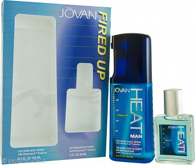 Jovan Heat Fired Up Confezione Regalo 60ml Dopobarba + 250ml EDC Spray Corpo