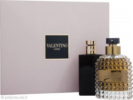 Valentino Uomo Confezione Regalo 100ml EDT + 100ml Balsamo Dopobarba