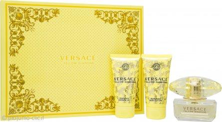 Versace Yellow Diamond Confezione Regalo 50ml EDT + 50ml Gel Doccia + 50ml Lozione Corpo