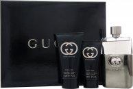 Gucci Guilty Pour Homme Confezione Regalo 90ml EDT Spray + 75ml Balsamo Dopobarba + 50ml Gel Doccia