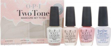 OPI Smalto Two Tone Manicure To-Go Confezione Regalo 4 x 15ml Smalti