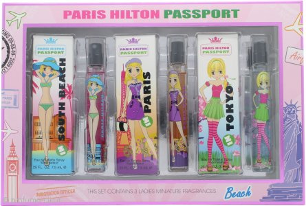 Paris Hilton Passport Confezione Regalo 3 x 7.5ml EDT (Tokyo - Paris - South Beach)
