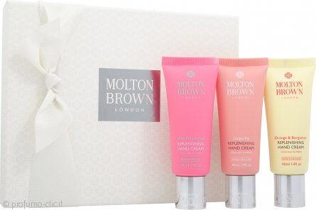 Molton Brown Replenishing Crema Mani Confezione Regalo 3 x 40ml - Pink Pepperpod + Gingerlily + Orange & Bergamot