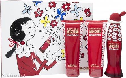 Moschino Cheap & Chic Chic Petals Confezione Regalo 50ml EDT + 100ml Lozione Corpo + 100ml Gel Doccia
