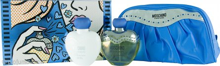 Moschino Toujours Glamour Confezione Regalo 100ml EDT + 100ml Lozione per il Corpo + Borsa da Bagno