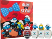 The Smurfs Blue Style Confezione Regalo 4 x 50ml EDT Spray - Papa + Clumsy + Smurfette + Brainy