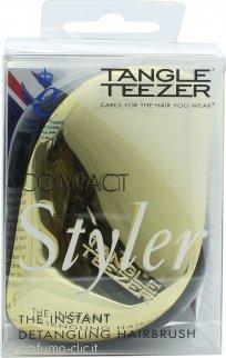 Tangle Teezer Detangling Spazzola Compatta per Capelli - Nera & Dorata