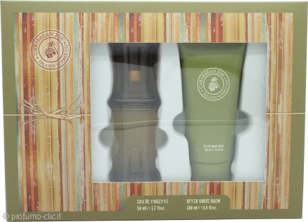 Caribbean Joe For Him by Caribbean Joe Confezione Regalo 50ml EDT + 100ml Balsamo Dopobarba
