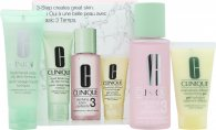 Clinique 3-Step Skincare Confezione Regalo 50ml Sapone Liquido Viso per Pelli Grasse + 100ml Clarifying Lotion 3 Pelle Mista/Grassa + 30ml Dramatically Different Gel Idratante Pelle Mista/Grassa