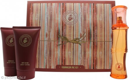 Caribbean Joe For Her by Caribbean Joe Confezione Regalo 100ml EDT + 150ml Lozione Corpo + 150ml Gel Doccia