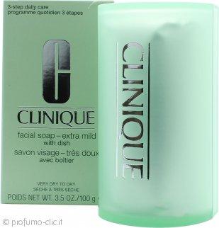 Clinique Cleansing Range Sapone per il Viso con Astuccio 100g Extra Mild