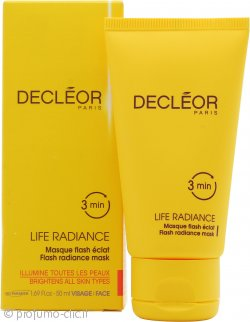 Decleor Life Radiance Flash Radiance Maschera 50ml - Tutti i Tipi di Pelle