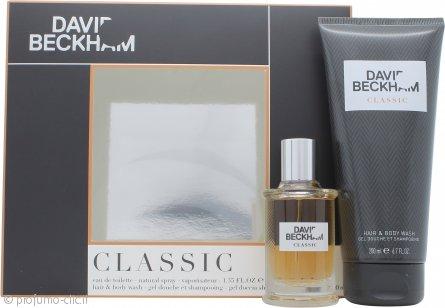 David Beckham Classic Confezione Regalo 40ml EDT Spray + 200ml Hair & Body Wash