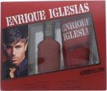 Enrique Iglesias Adrenaline Confezione Regalo 30ml EDT + 200ml Shampoo e Bagnoschiuma