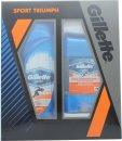 Gillette Sport Triumph Confezione Regalo 250ml Gel Doccia + 70g Gel Deodorante Clear
