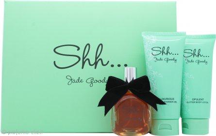 Jade Goody Shh Confezione Regalo 50ml EDP Spray + 100ml Lozione Corpo + 100ml Bagnoschiuma