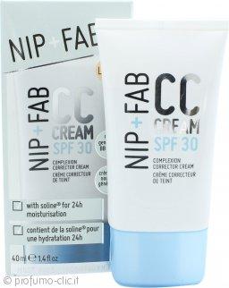 Nip + Fab CC Cream Complexion Corrector - Correttore Viso SPF 30 40ml Light