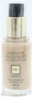 Max Factor Facefinity All Day Flawless 3 in 1 Fondotinta SPF20 30ml - 60 Sand