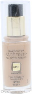 Max Factor Facefinity All Day Flawless 3 in 1 Fondotinta SPF20 30ml - 80 Bronze