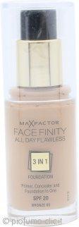 Max Factor Facefinity All Day Flawless 3 in 1 Fondotinta 30ml - SPF20 Bronze 80