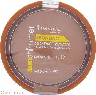 Rimmel Sun Shimmer Polvere Compatta Medium Matte - 11g
