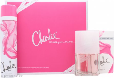Revlon Charlie Pink Confezione Regalo 30ml EDT Spray + 75ml Spray Corpo