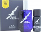 Parfums Bleu Limited Blue Stratos Confezione Regalo 100ml EDT + 45ml Schiuma da Barba