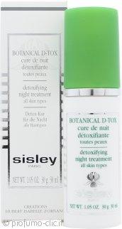 Sisley Botanical D-Tox Detoxifying Trattamento Notturno 30ml - Tutti i Tipi di Pelle