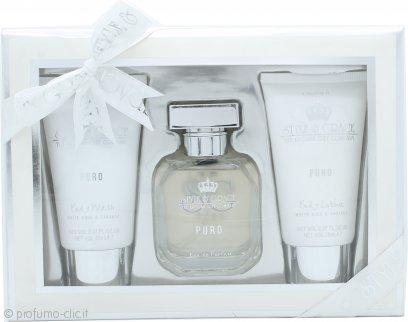 Style & Grace Puro Fragrance Confezione Regalo 50ml EDP + 70ml Bagnoschiuma + 70ml Lozione per il Corpo