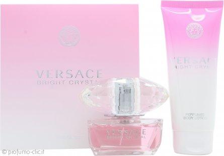 Versace Bright Crystal Confezione Regalo 50ml EDT + 100ml Lozione per il Corpo