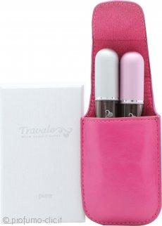 Travalo Fragrance Vaporisateur Confezione Regalo 2 x Travalo Sprays (Rosa + Argentato) + Astuccio (Rosa)