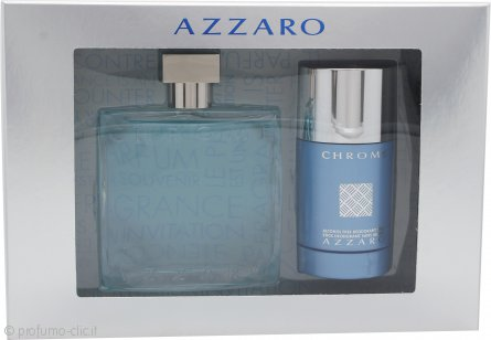 Azzaro Chrome Confezione Regalo 100ml EDT + 75ml Deodorante Stick