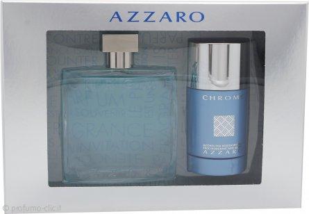 Azzaro Chrome Confezione Regalo 100ml EDT + 75ml Deodorante Stick