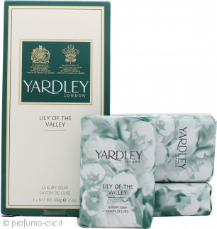 Yardley Lily of the Valley Saponi 3 x 100g