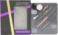 Active Glamour Night Look Cosmetic Palette - Ombretto + Eye Liner Nero + Lucidalabbra + Mascara Nero + Specchio