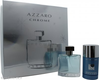 Azzaro Chrome Confezione Regalo 50ml EDT + 75ml Deodorante Stick