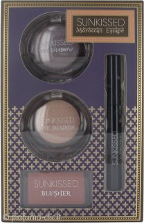 Sunkissed Moroccan Escape Dream Glow Confezione Regalo 2 x 6g Ombretti + 4g Fard + 5.5ml Mascara Nero