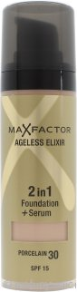 Max Factor Ageless Elixir 2 in 1 Fondotinta + Siero 30ml Porcelain 30