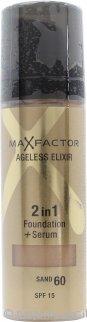 Max Factor Ageless Elixir 2 in 1 Foundation + Serum 30ml Sand 60