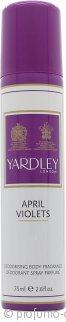 Yardley April Violets Body Spray 75ml