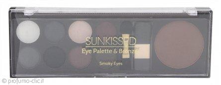 Sunkissed Eye Palette & Bronzer Confezione Regalo - Smoky Eyes 11 Pezzi
