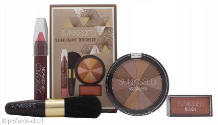 Sunkissed Sunlight Bronze Confezione Regalo - Polvere Abbronzante + Fard + Lucidalabbra + Pennello