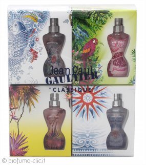 Jean Paul Gaultier Classique Summer Miniature Confezione Regalo 4 x 3.5ml EDT Mini