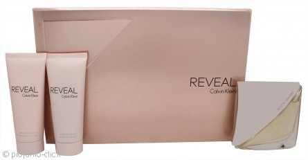 Calvin Klein Reveal Confezione Regalo 100ml EDP Spray + 100ml Lozione Corpo + 100ml Gel Doccia