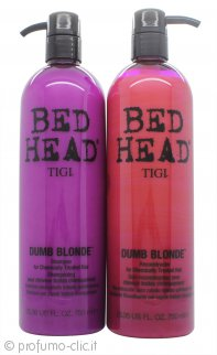 Tigi Duo Pack Bed Head Dumb Blonde 750ml Shampoo + 750ml Balsamo